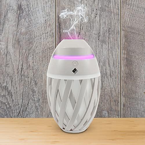Self Ideas - Humidificador de Aromas. Difusor de aceites esenciales con led de Colores. Humidificador ultrasonico con hasta 12 horas de vapor intermitente. Incluye botella de aceite perfumado. (USB)