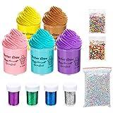Abree Slime Kit Set para Niños 5 Colores Juego de Slime Juguetes Creativos Stress Relief Toy Perfumado DIY Putty Sludge Toy para Niños y Adultos Regalo para Niños