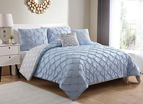 Zarah 5Pc Set Includes Comforter  - King - Silver