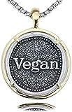 TYWZH Collar Collar Vegano Regalo de Novio Colgante activista Vegano Conciencia de herbívoros Estilo de Vida Vegetariano Joyería de liberación Animal