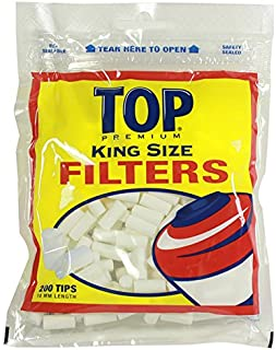 TOP Premium Filter Tips - 18mm - 200 Filters/Bag (5 Bags for a total of 1,000 filters!)