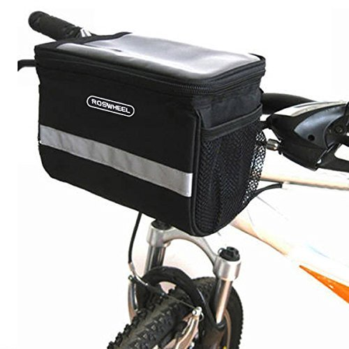Docooler Bolso de la Bicicleta Bolso del Manillar del Frente del Serón Estante Bolsa Cesto de Ciclismo