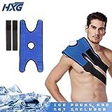 Hivexagon Fascia elastica per borsa ghiaccio per terapia dolore regolabile per spalla, vita, ginocchio (borsa ghiaccio non inclusa) HG219