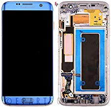 ePartSolution_LCD Display Touch Screen Digitizer Glass Lens + Frame Assembly for Samsung Galaxy S7 Edge G935A G935T G935V Replacement Part USA (Blue)