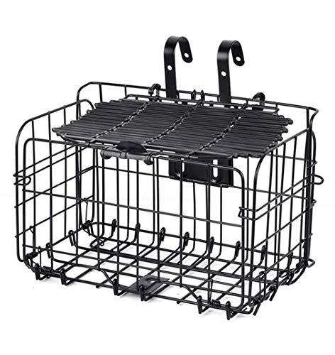 Folding Basket Bicycle Basket Front Basket Basket Car Scorpion Mountain Bike Basket Rear Basket Bicycle Basket Bold Metal Folding Basket,B