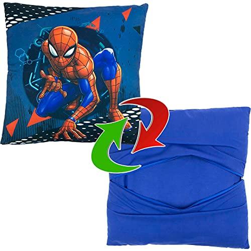 AYMAX Plaid Polaire Spiderman Lance Toiles sur Fond Bleu 100x140cm