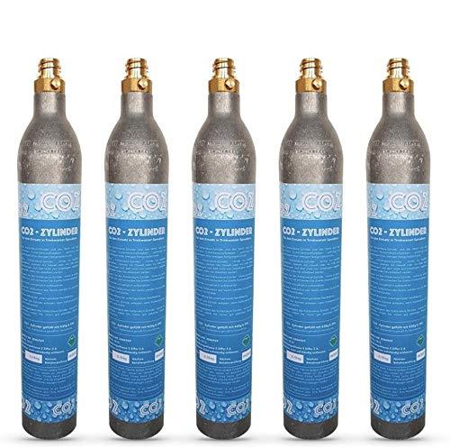 Neues Wasser Group 5x CO2Cilindro CO2Botella Adecuado para Sistema de Agua Potable Grohe Blue Home CO2Relleno.