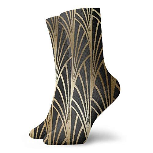 Art Nouveau Art Deco Chaussettes d'athlétisme pour randonnée, marche, loisirs en plein air, coussin absorbant la transpiration, chaussettes mi-mollet