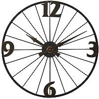 家庭用品壁掛け時計カントリー錬鉄製クリエイティブクロックサイレント産業用風車壁掛け時計家庭用リビングルームキッチンアンティーク赤銅壁掛け時計