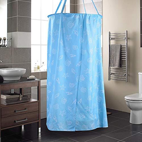 Goodsv Cremallera Cubierta de baño Cuenta de baño Tela Gruesa de poliéster Cortina de Ducha Temperatura fría Cálido Redondo Bebé Adulto Cuenta de baño (Color : 80 * 200CM)