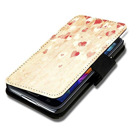 Book Style Flip Handy Tasche Hülle Schutz Hülle Foto Schale Motiv Etui für LG L Bello - A52 Design9