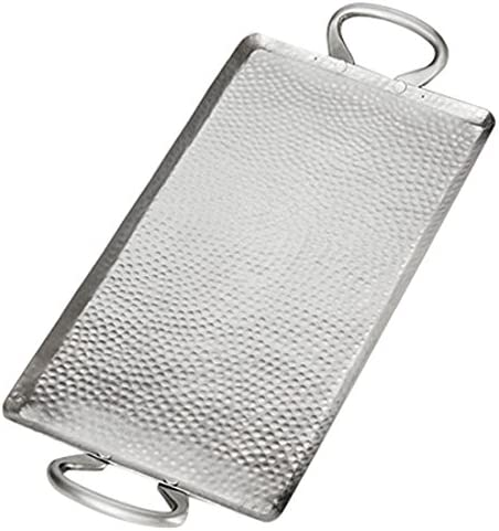 American Metalcraft G21 Hammered Stainless Steel Griddle