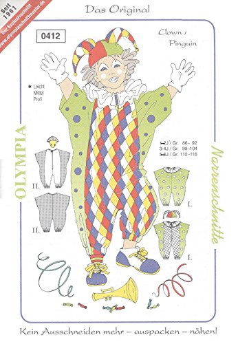 Olympia Schnittmuster Modell Clown/Pinguin Gr. 98-104 0412 (Narrenschnitte)