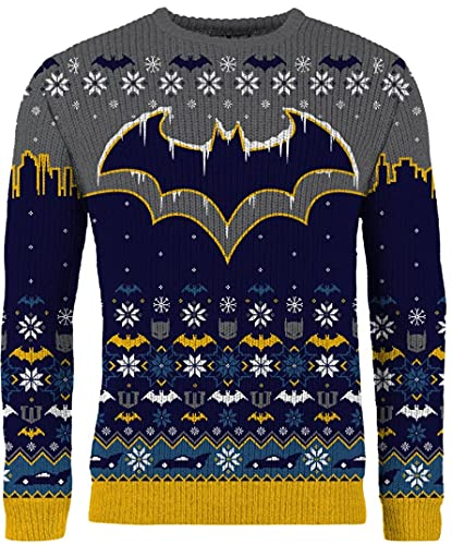 Pull de Noël Batman pour homme ou femme - Ugly Sweater cadeau, Multicolore, M