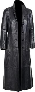 Sheepskin, Women's Long Coat Black Glossy Original Leather, for Sale on Amazon