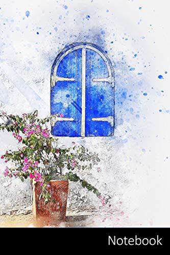Notebook: Puerta, Flores, Naturaleza, Arte Cuaderno / Diario / Libro de escritura / Notas - 6 x 9 pulgadas (15.24 x 22.86 cm), 150 páginas, superficie brillante.