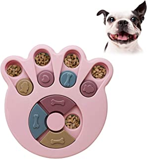 Andiker Dog Puzzle Feeder Toy, Durable Dog Interactive Toy, Dog Training Brain Games, Improving IQ, 3 Colors (Pink)