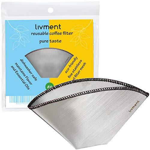 livment filtros de café Reutilizables, Filtro Permanente de
