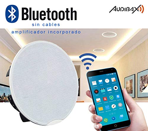 Audibax CM508-BT Altavoces Techo Blancos Bluetooth