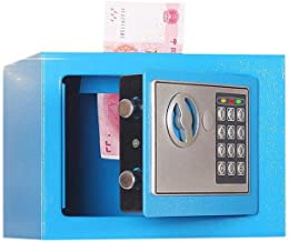 JBAMQ Household Small Safe Mini Safe Deposit Box Bedside Table Password with Lock Insurance Box Gift (Color : B)