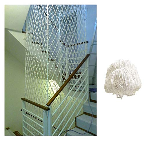 STTHOME Child Safety Net Protection Climbing Frames White Nylon Net, Child And Baby Anti-fall Net, Stair Safety Net, Cat Protection Net, Balcony Net 1x3m (Size : 1 * 8m(3 * 26ft))