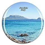 Weekino Italia Sardegna Calamità da frigo 3D Cristallo Bicchiere Tourist City Viaggio Souvenir Collezione Regalo Forte Frigorifero Sticker
