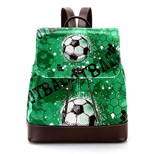 Casual PU Leather Backpack for Men, Women's Shoulder Bag...