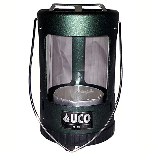 UCO Unisex's Mini-Laterne, eloxiert, Grün, Einheitsgröße