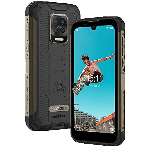 Doogee S59 PRO Handy ohne Vertrag, IP68 Stoßfest Robustes Smartphone, 10000mAh Akku Lautsprecher 4 LED Outdoor Handy, Octa Core 4 GB+128GB(256GB Externe SD), 16 MP AI Quad-Kamera Smartphone Dual SIM NFC