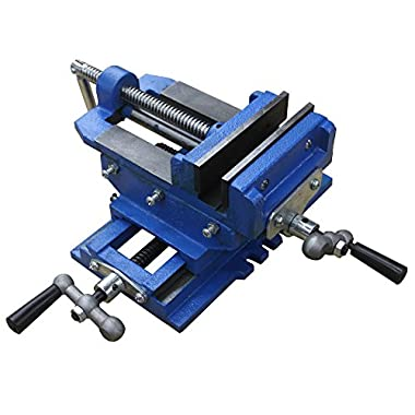 HFS (Tm) 5  Cross Slide Vise Drill Press Metal Milling 2 Way X-Y Heavy Duty Clamp Machine