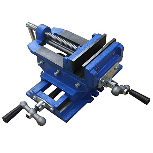"HFS (Tm) 5"" Cross Slide Vise Drill Press Metal Milling 2 Way X-Y Heavy Duty Clamp Machine"