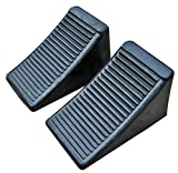 Fasmov Solid Rubber Heavy Duty Wheel Chock -2 Pack