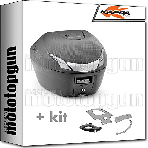 kappa maleta k34nt 34 lt + portaequipaje monolock compatible con suzuki an 650 burgman executive 2009 09