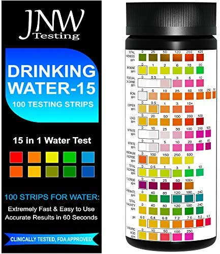 JNW Direct Drinking Water Test Strips 15 in 1 Best Water Test Kit for Fast Easy Accurate Water product image