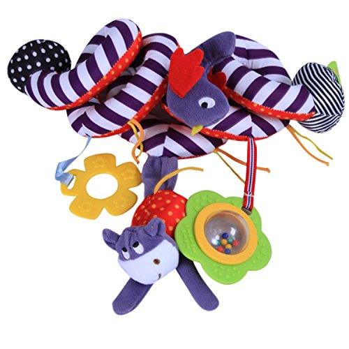 De feuilles Chic-Chic Spirale Bébé Jouet Enfant Spirale d'activités Spirale Poussette Siège Auto Jouet pour Dormir Animal Suspendu Modèle-02 Taille Unique