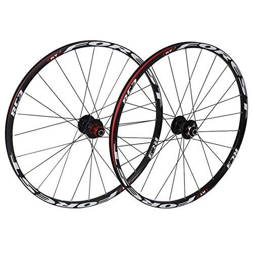 Accesorio de bicicleta de ejes de liberación rápid Mountain Bike Wheelset 26 27.5 en rueda de bicicleta MTB Doble capa RIM 7 Cojinete sellado 11 Velocidad Cassette HUB Freno de disco QR 24 Agujeros 18