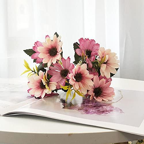 Sonze Cosmos de simulación de 8 Piezas, decoración de Flores de Boda en Polvo,Flores Artificiales Decoración,decoración para el hogar, jardín