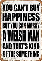 2個 あなたはウェールズ人の錆の金属のサインと結婚することができます男の洞窟の金属のサイン8X12インチ