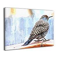 Skydoor J パネル ポスターフレーム ちらつき 鳥 水彩画 インテリア アートフレーム 額 モダン 壁掛けポスタ アート 壁アート 壁掛け絵画 装飾画 かべ飾り 30×20