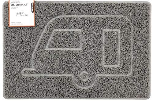 Nicoman Caravan - Felpudo con Forma de Relieve, Gris, Medium (75x44cm)