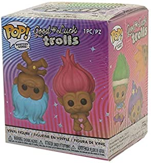 Funko Mystery Minis: Trolls Classic PDQ, One Random Mystery Action Figure Assorted Color - 46207, 1 Piece