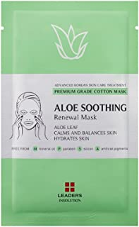 [Leaders Insolution] Aloe Soothing Renewal Face Cotton Sheet Mask 10Pk