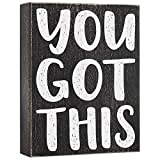 """HOME OFFICE DECOR - A motivational """"You Got This"""" sign that will add charm to your office, desk, cubicle, or shelf ENCOURAGEMENT GIFT FOR WOMEN - Your coworker, boss, or new employee will appreciate this inspirational block sign as a moving away gift..."""