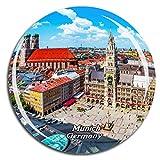 Weekino Alemania Marienplatz Nuevo Ayuntamiento Munich Imán de Nevera 3D de Cristal de Turismo de la Ciudad de Viaje Recuerdo de la Colección de Regalo Fuerte Etiqueta Engomada del refrigerador