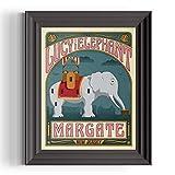 Margate, New Jersey art print - 8x10 inch