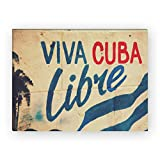 WANDKINGS Leinwandbild Viva Cuba Libre / 40 x 30 cm/auf