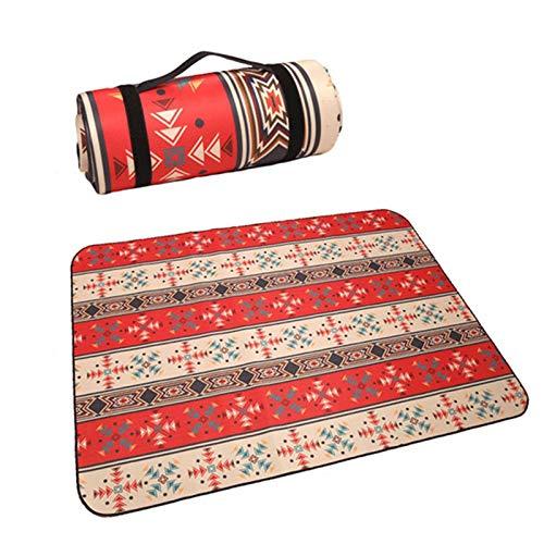 Mabor Almohadilla de picnic resistente a la humedad, alfombrilla de picnic, resistente, práctica, duradera, tela al aire libre, multifunción, viaje, tela Oxford a rayas