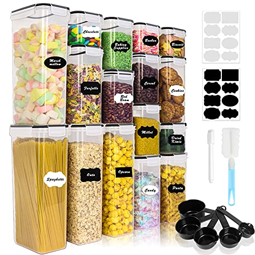 Airtight Food Storage Containers Set, 16PCS BPA Free Plastic Dry Food Canisters with Lids, Kitchen...