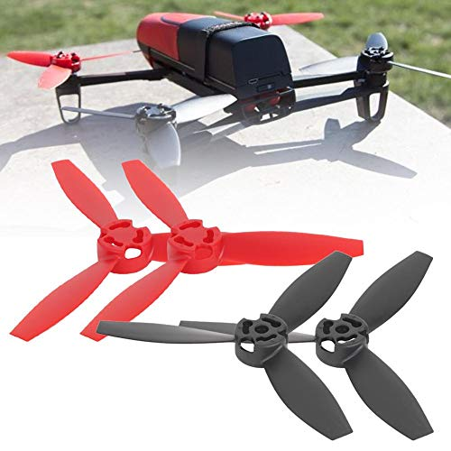 RC Drone Propellerblatt, 4 Stück RC Quadcopter Propellerblatt Upgrade Teile kompatibel mit Bebop 2 Drone(2 Stück, schwarz, 2 Stück, rot)