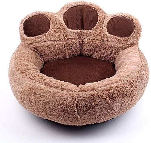 YLCJ Hond bedden, huisdier bed, zachte slaapzak voor huisdieren, gevulde huisdier mand, gevulde dier, grot, kat nest, huisdier mat, warm hondenbed, rustgevend voor katten (kleur: bruin, grootte : XL (73x80 cm)), L(62x68cm), BRON